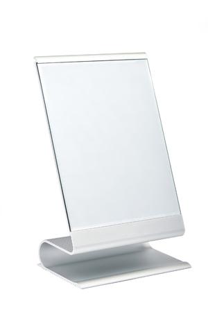 Photo pour Modern makeup mirror isolated on white background - image libre de droit