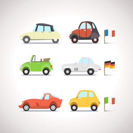 Ilustración de Car Flat Icon Set 8 - Imagen libre de derechos