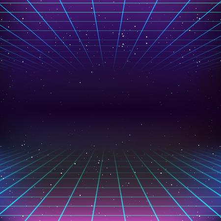 Ilustración de 80s Retro Sci-Fi Background - Imagen libre de derechos