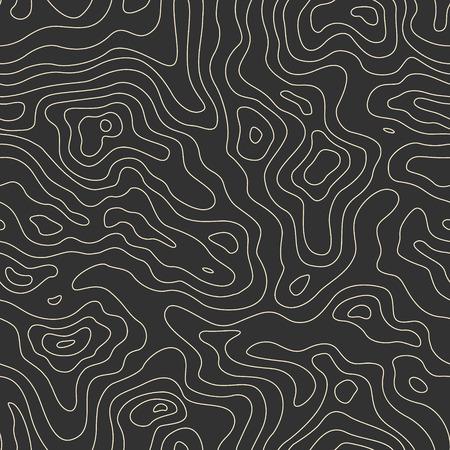 Illustration pour Topographic Map Seamless Pattern. Vector Background - image libre de droit