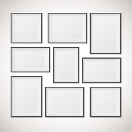 Illustration pour Multiple Frames vector illustration - image libre de droit
