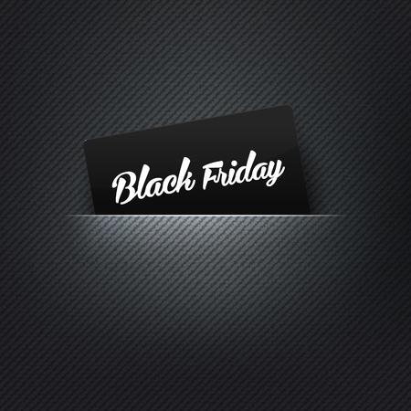 Ilustración de Black Friday label in poket card, vector illustration - Imagen libre de derechos