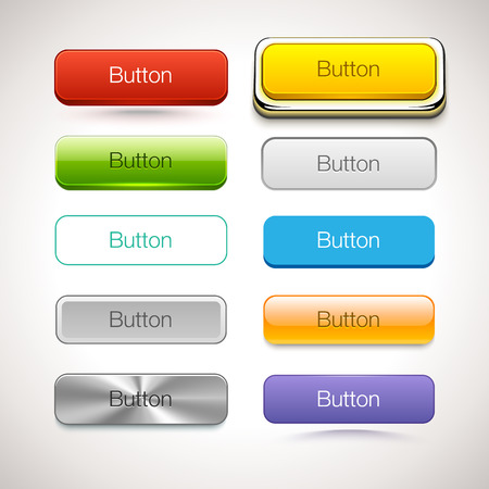 Illustration for Vector Collection of Buttons in different style - Royalty Free Image