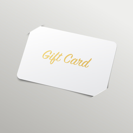 Illustration pour Gift Card with Golden Title. Vector Mockup with placeholder - image libre de droit