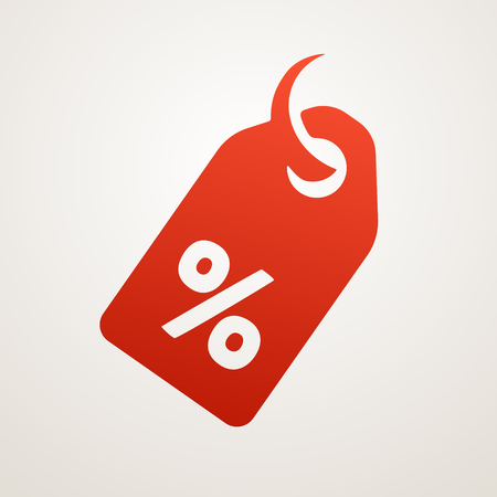 Illustration for Price Tag with SALE, vector icon - Royalty Free Image