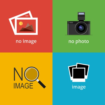 Ilustración de No image signs for web page. Internet icon to indicate the absence of image until it will be downloaded. - Imagen libre de derechos