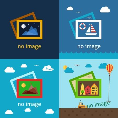 Ilustración de No image creative vector illustrations. Using for decorating empty spaces where image or photo should be. - Imagen libre de derechos