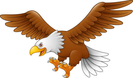 Illustration pour Cartoon eagle flying - image libre de droit