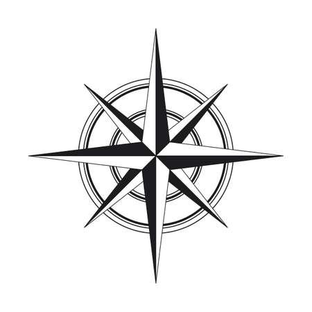 Ilustración de Compass icon isolated on white background - Imagen libre de derechos