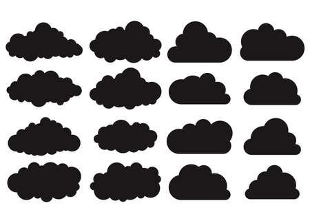 Illustration pour Clouds silhouettes set - image libre de droit