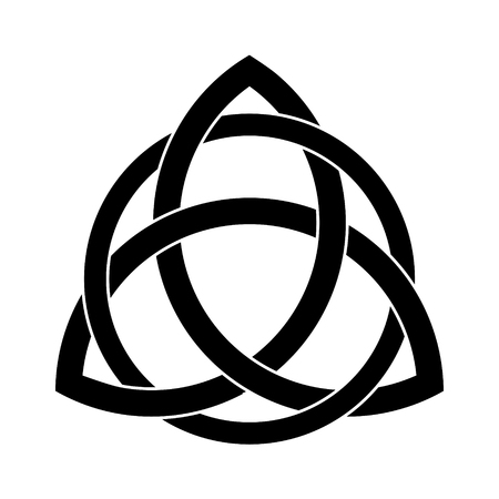 Illustrazione per Black Triquetra ornament with editable fill and stroke colors - Immagini Royalty Free