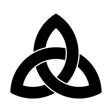 Ilustración de Black Triquetra ornament - Imagen libre de derechos
