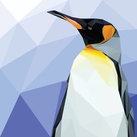 Ilustración de Bird Animal Lowpoly Vector Background Template - Imagen libre de derechos