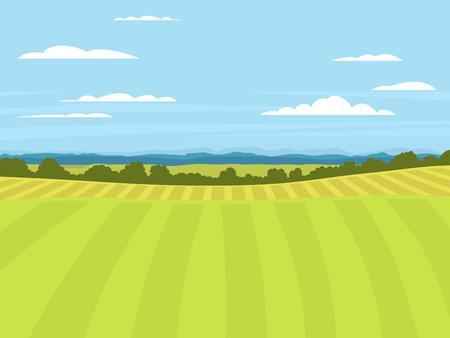 Illustration pour Village landscapes vector illustration farm house agriculture graphic countryside - image libre de droit