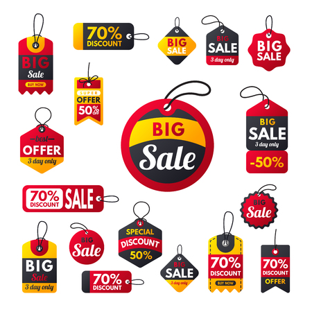 Illustration pour Super sale extra bonus red banners text label business shopping internet promotion discount offer vector illustration - image libre de droit