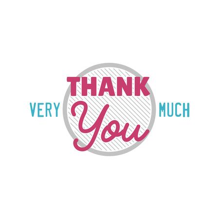 Ilustración de Thank you gratitude - text lettering vector - Imagen libre de derechos