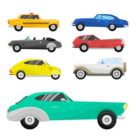 Illustration pour Retro vintage old style car vehicle. - image libre de droit
