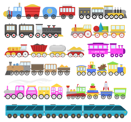 Illustration pour Kids train vector cartoon baby railroad toy or railway game with locomotive gifted. - image libre de droit