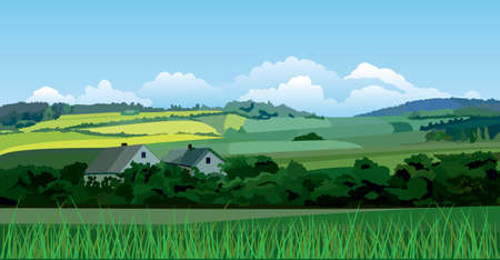 Illustration pour Countryside landscape - image libre de droit