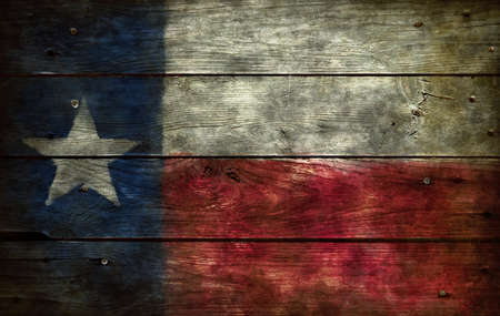 Photo for flag of texas on wooden background - Royalty Free Image