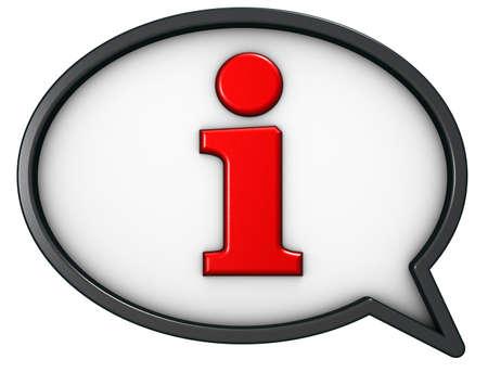 Foto de speech bubble with the letter i - 3d rendering - Imagen libre de derechos