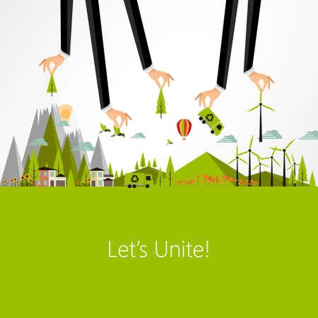 Ilustración de Eco Business Background Design, Vector Eps10 - Imagen libre de derechos