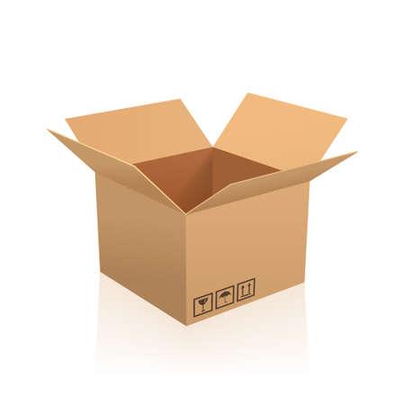 Illustration pour Open box vector illustration. - image libre de droit