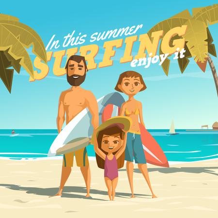 Illustration pour Surfing in this summer.   - image libre de droit