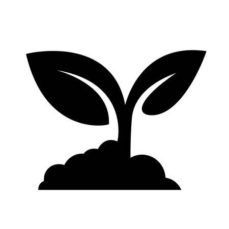 Illustration pour Seedling icon vector - image libre de droit