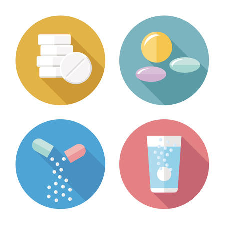 Photo pour Drug forms color icons vector - image libre de droit