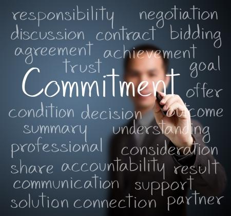Photo pour business man writing commitment concept - image libre de droit