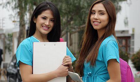 Foto de Young Female Nurses Or Medical Students - Imagen libre de derechos