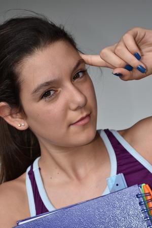 Photo pour Creative Girl Student - image libre de droit