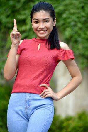 Photo pour A Creative Youthful Teenage Female - image libre de droit
