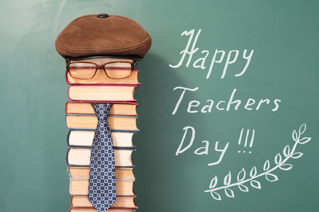 Photo for Happy teachers day funny concept - Royalty Free Image