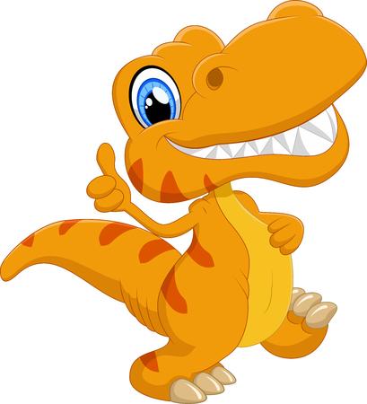 Illustration pour Cute dinosaur cartoon - image libre de droit