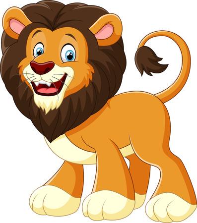 Photo pour illustration lion cartoon - image libre de droit