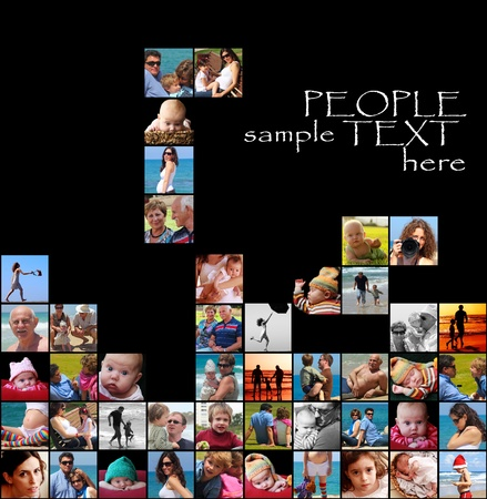 happy people collage-tetris