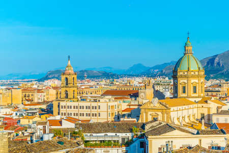 Foto de Aerial view of Palermo, Sicily, Italy  - Imagen libre de derechos