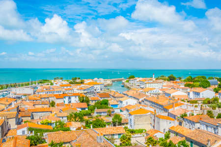 Foto de Aerial view of Saint-Martin-de-R?, France - Imagen libre de derechos