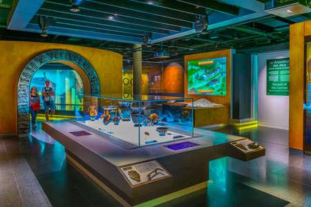 Foto de LAUSANNE, SWITZERLAND, JULY 19, 2017: Interior of the International olympic museum in Lausanne, Switzerland - Imagen libre de derechos
