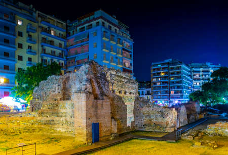 Foto per Ruins of the imperial palace in Thessaloniki, Greece - Immagine Royalty Free