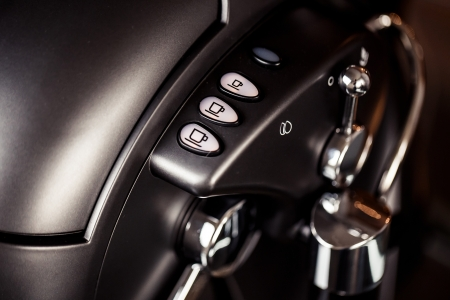 Photo for Close-up of coffee machine buttons - Royalty Free Image