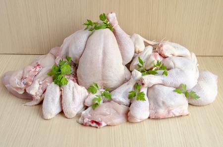 Photo pour Pieces of raw chicken meat - image libre de droit