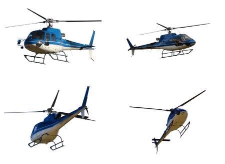 Foto de Set of helicopter isolated on white - Imagen libre de derechos