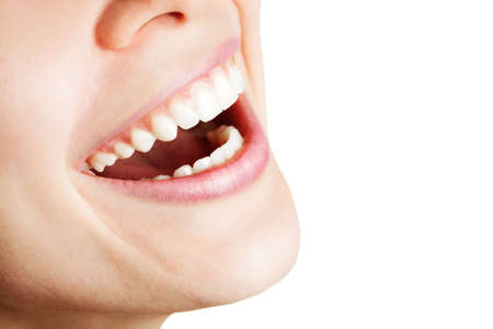 Laugh of happy woman with healthy white teeth