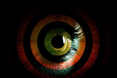 Photo pour Human eye – abstract vision concept - image libre de droit