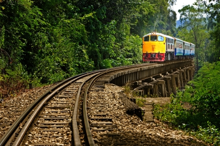 Rail travel in Kanchanaburi province is called