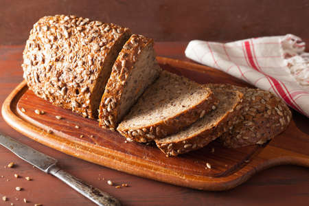Photo for healthy whole grain bread with carrot and seeds - Royalty Free Image