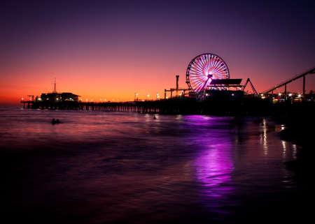 Photo for Santa Monica Pier Sunset - Royalty Free Image